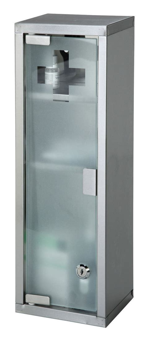 lockable medicine cabinet large wall mountable medicine cabinet cupboard aid lockable glass door new ebay