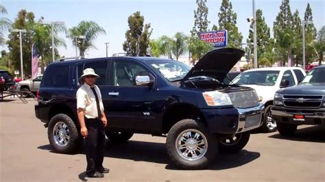 custom lifted nissan armada 110668 lifted 2006 nissan armada sport se youtube