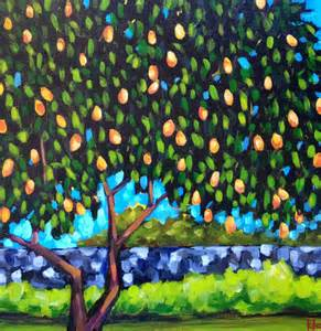 How To Landscape My Backyard Under The Mango Tree Landscape Painting By Kto Art Kto Art