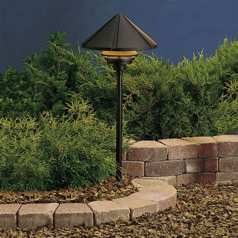 Textured Black Line Voltage One Light Landscape Path Light Kichler Outdoor Landscape Lighting