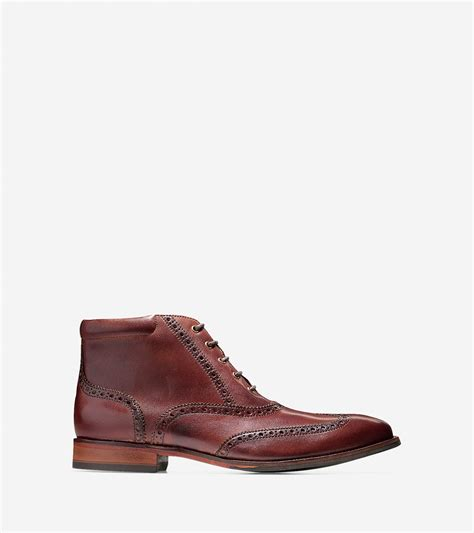 cole haan williams boot cole haan williams leather chukka boots in brown for