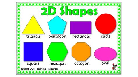 Shape 2 D 2d shapes mat