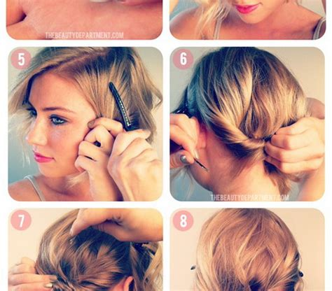 everyday up hairstyles for short hair updos for short hair casual hairstyles for women
