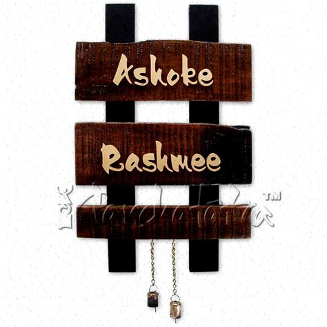 design home name plates buy two names wooden nameplate design online in india
