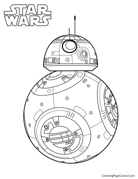 wars coloring wars bb 8 coloring page coloring page central