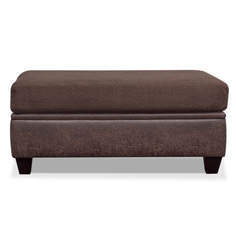 value city ottoman brando storage ottoman chocolate value city furniture