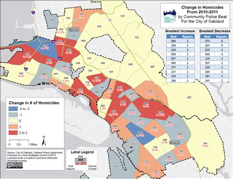 crime tracker oakland crime maps for 2011 by police beat urban