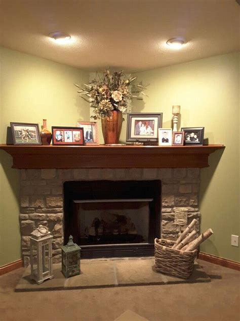 how to decorate my fireplace 1000 ideas about corner fireplace mantels on