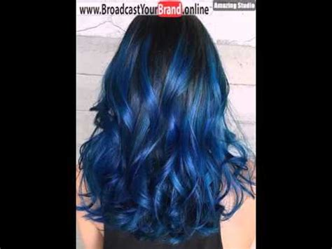 brownish blavk hair with a coiple of blue braids for 10year olds blue highlights for black hair youtube
