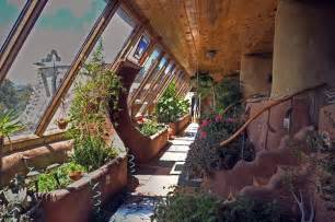 Earthship Interior by Earthship Interior Solarium With Built In Botanical Cells