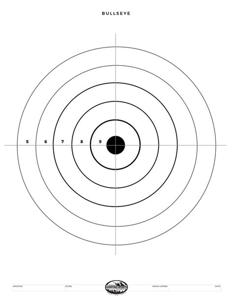 printable rifle targets printable shooting targets and gun targets nssf