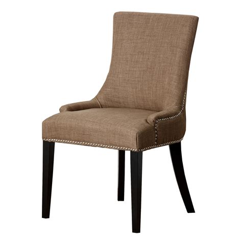 Hudson Dining Chair Abbyson Living Hs Dc 217 Gld Hudson Fabric Nailhead Trim Dining Chair Homeclick