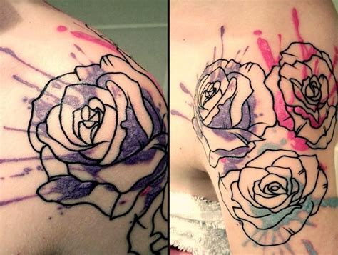 abstract rose tattoo beautiful watercolor abstract tattoos