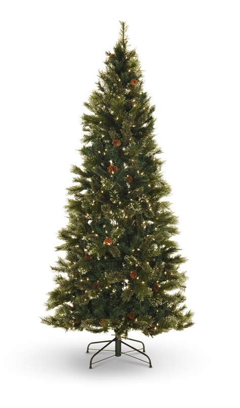 oregon pine 7 5 pre lit artificial christmas tree clear