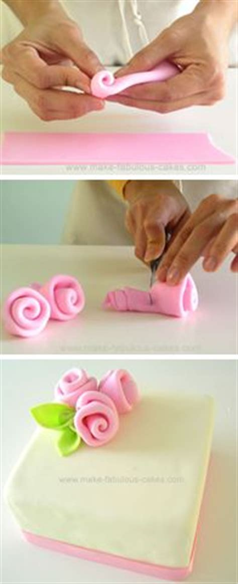 How To Make Fondant Decorations by How To Make Fondant Ribbon Roses Simple And Easy For