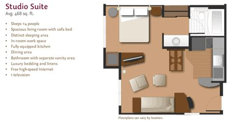 Residence Inn Studio Suite Floor Plan | large fully equipped suites at residence inn by marriott