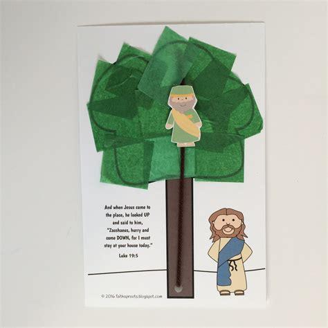 zacchaeus crafts for faith sprouts jesus changed zacchaeus