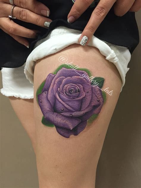 purple rose tattoo purple pinteres