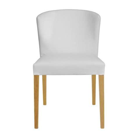 valentina chaises de salle 224 manger blanc bois habitat