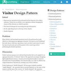 visitor pattern expression tree design pattern programmation pearltrees
