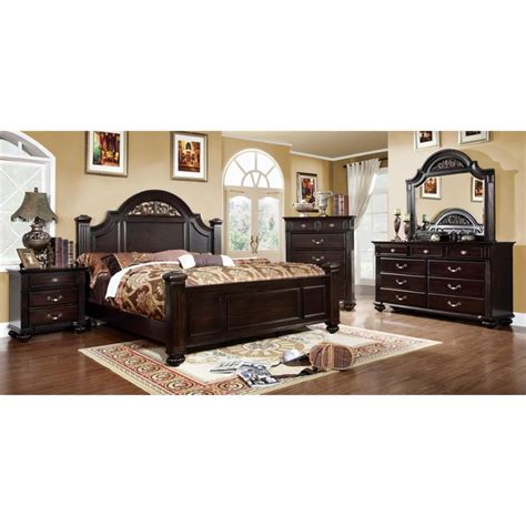california bedroom set furniture of america damos 4 piece california king bedroom