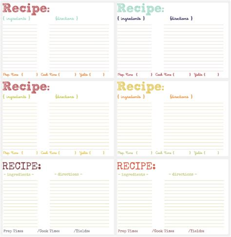 printable recipe cards with recipes printable recipe cards savvy eats