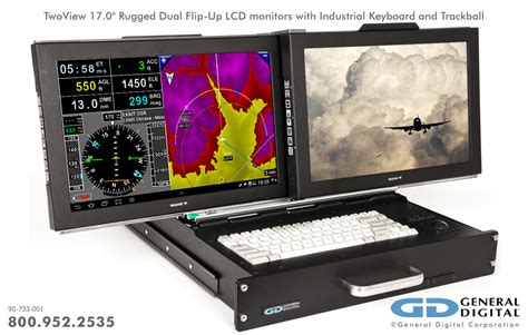 rugged monitors twoview rugged dual flip up kvm monitors keyboard general digital