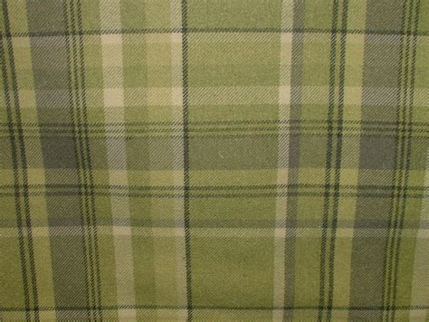 tartan curtain fabric uk elgin sage green wool effect washable thick tartan curtain