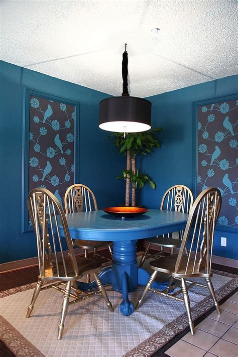 blue dining room table blue dining rooms 18 exquisite inspirations design tips