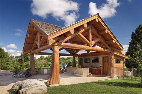 log cabin patio furniture modern day log cabin the bowling green residence