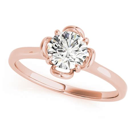 Flower Solitaire Ring by Flower European Engagement Rings From Mdc Diamonds Nyc