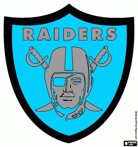 free coloring pages of raiders logo