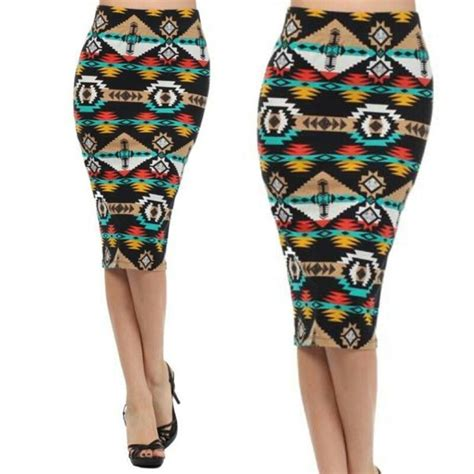 Print Midi Pencil Skirt tribal print midi pencil skirt dress up