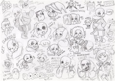 undertale sketchbook undertale doodles and sketches 02 alot of sans by