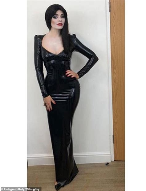 celebrity juice halloween special holly holly willoughby unrecognisable as morticia from the