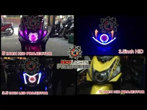Lu Led Yamaha Mio mio i 125 m3 with 5inch hid projector dual color parklight