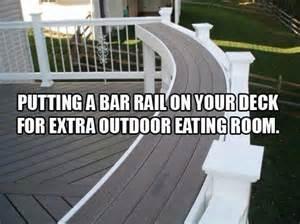 Deck Railing Bar Top by Outdoor Bar Top Railing Neat Ideas Decks
