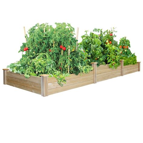 Raised Garden Beds Home Depot by Greenes Fence Tiers Dovetail Raised Garden Bed
