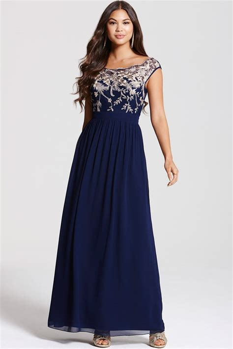 A Pretty Embellished Navy Dress From Warehouse by Navy Embellished Maxi Dress From Uk
