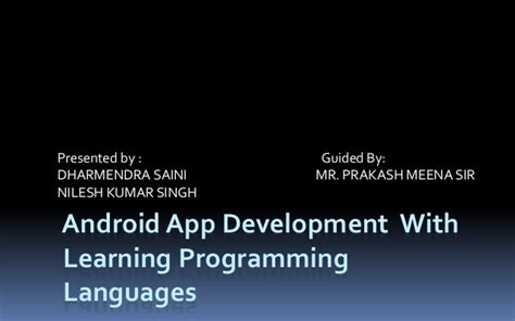 tutorial android ppt ppt of tutorial android app
