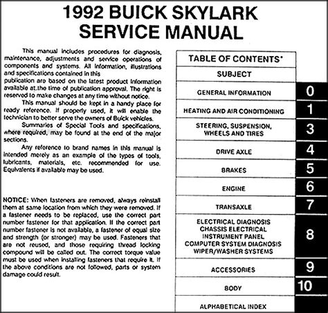 car service manuals pdf 1992 buick coachbuilder on board diagnostic system service manual 1992 buick skylark transmission repair manual service manual pdf 1994 buick