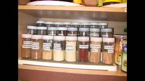 organized home  spice cabinet organization