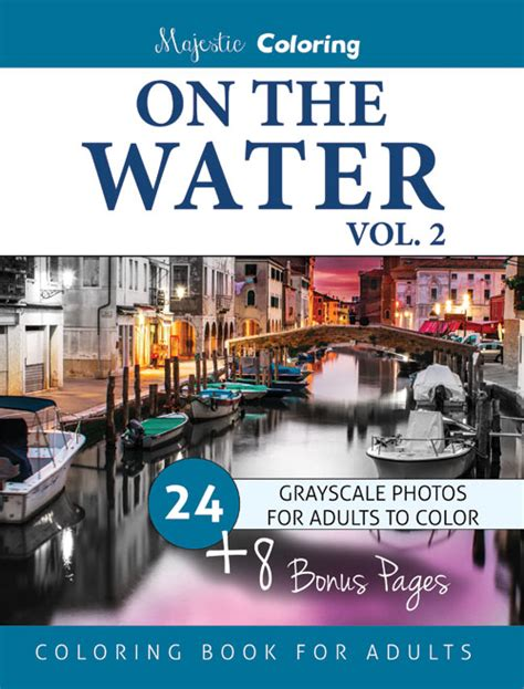 mend waters volume 2 books on the water vol 2 grayscale coloring book