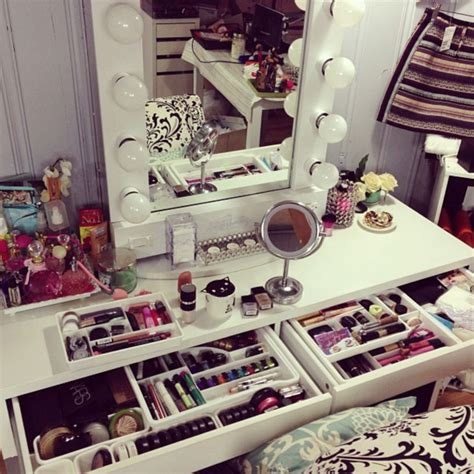 bedroom vanity with lighted mirror cernel designs