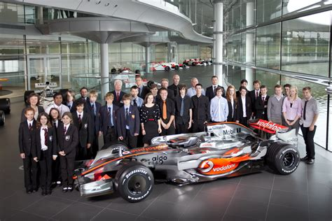 mclaren factory students get a rare tour of the mclaren factory as part of
