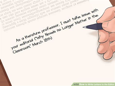 how to write a letter to the editor how to write letters to the editor with pictures wikihow