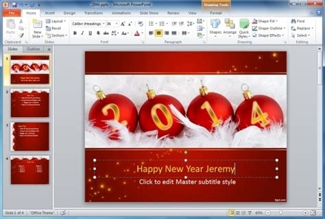happy new year card template microsoft how to make animated happy new year cards in powerpoint