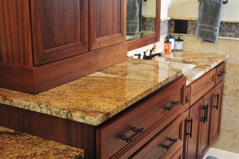Wichita Granite Countertops by Brown Granite Traditional Bathroom Wichita
