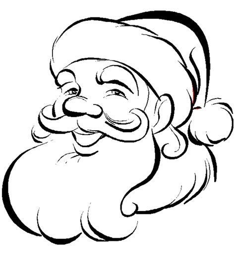 Xmas Coloring Pages Colouring Pages Santa