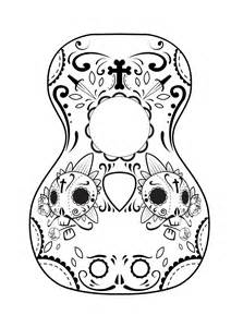 Day Of The Dead Calavera Outline by Calavera Mask Coloring Page Coloring Pages